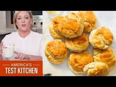 (1518) How to Make the Absolute Easiest Ever Biscuits - YouTube Americas Test Kitchen, Southern Recipes, Desert Recipes, Bread Baking, Crackers, Bread Recipes, Biscuits, Breakfast Recipes, Deserts