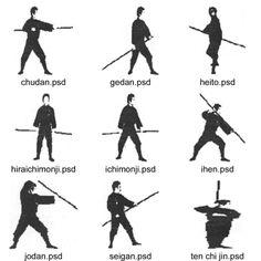 Japanese Weaponry - Bujinkan Mushin Dojo webpage  Need to find similar reference for bo staff strike/position names...