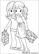 Precious Moments coloring pages - gorgeous vintage colouring pages