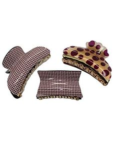 Three Leopard Animal Print Transparent Plastic Hair Claws Clamps
