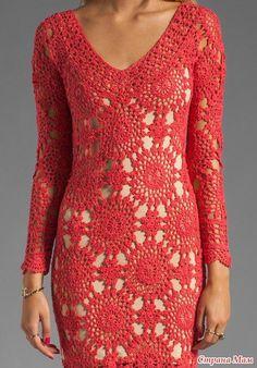 TRICO CROCHE ETC E TAL: Muito lindo esse vestido e com gráfico fica ainda melhor.