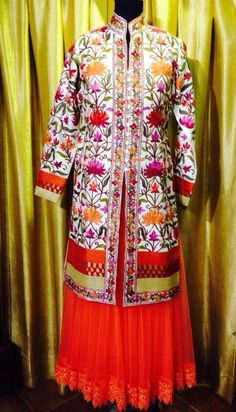 Beautiful embroidery on punjabi suit ❤️@amu