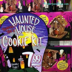 Trader Joe's Haunted House Cookie Kit $7.99 トレーダージョーズ ホーンテッドハウス クッキーキット  #traderjoes #hauntedhouse #cookie