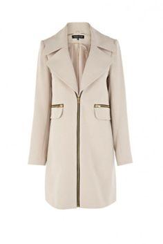 Warehouse Removable Collar Zip Coat, £100 - Winter Coats