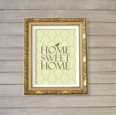 Home Sweet Home - 8x10  - Instant Download, Home, Wall, Interior Decor, Damask, Digital Printable Poster, Print, Typography, Art, JPEG Image