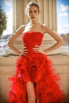 LIVE. BREATHE. FASHION - stunning red prom gown