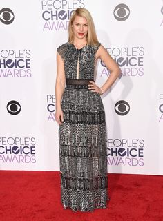 People's Choice Awards 2016 Claire Danes veste Burberry