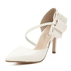 Suede  Women's Stiletto Heels Pointed Toe   Pumps/Heels  with Bowknot Shoes(More Colors) – USD $ 24.99