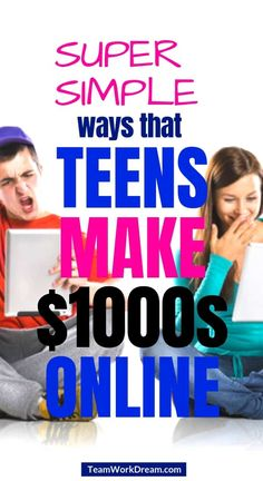 Great ways for teens to make money online. Find out how teenagers can make money easily by working online. Teenage side hustles to earn extra cash. Make money online mom Earn Extra Cash, Making Extra Cash, Extra Money, Online Earning, Earn Money Online, Online Jobs, Earn Money From Home, Make Money Fast, Money Today