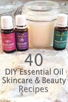 40 DIY essential oil skincare and beauty ideas using Young Living essential oils.