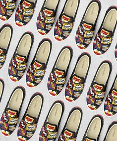 Scientific Fact: colorful shoes=happiness. I made that up. Still vote for me at #Bucketfeet⭐️ --- --- #seasonofvictory #bucketfeet #comicbook #comic #comicon #superhero #lichtenstein #popart #graphic #graphicdesign #surfacedesign #spoonflower #paom #printalloverme