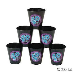 "Look Who's ""40"" Shot Glasses"