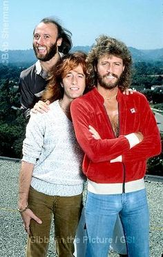 The Bee Gees ... Maurice, Robin and Barry Gibb