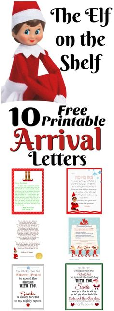 Elf on the Shelf Ideas for Arrival: 10 Free Printables!    A collection of 10 amazing free printable letters for a spectacular Elf on the Shelf arrival!    Letters from Santa Blog
