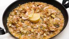 Receta de Arroz con alcachofas y gambas #arroz #receta