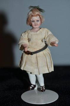 Vintage Doll Artist Doll Miniature Dollhouse Character