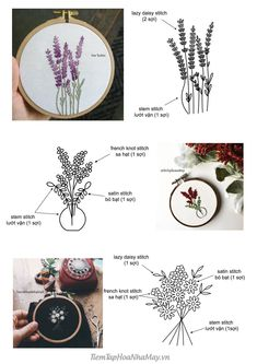 Wedding Embroidery, Simple Embroidery, Learn Embroidery, Embroidery Hoop Art, Embroidery Sampler, Ribbon Embroidery, Hand Embroidery Patterns Flowers, Hand Embroidery Projects, Hand Embroidery Videos