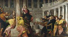 Jesús entre los doctores (1548) por el Veronés.