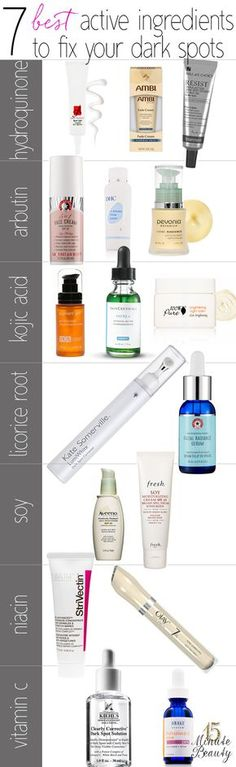 The best ingredients to fight dark spots and hyperpigmentation, and products you can find them in!