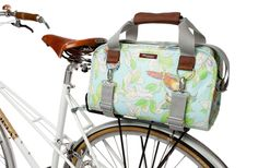 Awesome bag tote bag that straps onto your bike for those lovely summer days you want to take a bike ride & do some shopping!  Bag by Po Campo