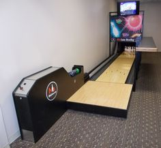 A mini bowling alley