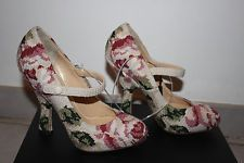 Dolce & Gabbana BAROQUE  EMBROIDERED TAPESTRY Mary Janes Pumps Heels sz 6 $1000