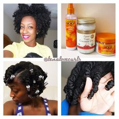 The TWIST AND CURL! Not as defined as i would like because it was still damp however it still like it! So this is how i did it!!! @cantubeauty #icantu 1. Wash that hair girl! 2. Sectioned my hair into four sections 3. In each section i made 5 twists, total of 20 twists 4. (L) Apply the coconut oil mist 5. (O)Apply coconut oil 6. (C) Apply curling cream 7. Use whatever size perm rods you choose. I used gray! 8. Let dry overnight or under dryer 9. Take down, Fluff, and be FABULOUS…