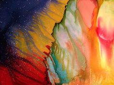 Red Yellow and Blue Abstract Painting by themermaidssinging