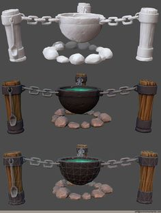 Small sculpted prop piece that has hand painted diffuse maps rendered in Marmoset Toolbag. Bg Design, Prop Design, Game Design, Environment Concept Art, Environment Design, Game Environment, Blender 3d, 3d Modellierung, Hand Painted Textures
