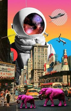 49 Ideas for digital collage art design Collage Kunst, Art Du Collage, Surreal Collage, Surreal Art, Collage Artists, Poster Collage, Collage Design, City Collage, Art Collages