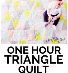 one hour triangle quilt