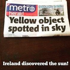 Breaking news: Ireland discovered the Sun! . . #elmens #caironightlife #thisisegypt #ireland #ireland2016 #ireland_gram #insta_ireland #icu_ireland #inspireland_ #travel #dublin #loves_ireland #instaireland #picoftheday #autumn #bestoftheday #england #igersireland #visitireland #beautiful #france #hills #insta_ni #landscape #mountains #northernireland #traveler #throwback #ukpotd #usa