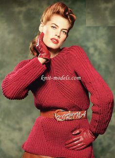 Пуловер английской резинкой
