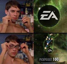 Bla bla bla meme about EA give me karma