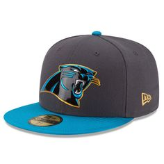 Carolina Panthers New Era Gold Collection On Field 59FIFTY Fitted Hat - Graphite/Blue