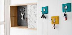 Caja decorativa para colgar las llaves Bathroom Hooks, Bathroom Medicine Cabinet, Small Entrance, Cosy, Entryway, Google, Furniture, Home Decor, Coat Hooks