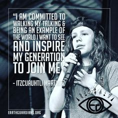 """""""I am committed to walking my talking and being an example of the world I want to see and inspire my generation to join me!""""  In 2015 #ItzcuauhtliMartinez of @EarthGuardians inspired hundreds of thousands of people to pledge to be #climate leaders.  Here our incredible #RYSE #Youth Council member shares his #RegenResolution for 2016.  Welcome! InsprMe is Art. Activism. Cannabis. Clean Energy. Design. EcoProducts. Environment. Inspiration. PosNews & Solutions.  Tag a friend to join us…"""