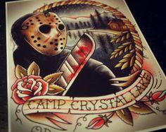 Horror movie tattoo for my favorite genre. 13 Tattoos, Kunst Tattoos, Tattoo Drawings, Tattoo Art, Horror Movie Tattoos, Horror Movie Characters, Horror Movies, Halloween Tattoo, Jason Vorhees Tattoo