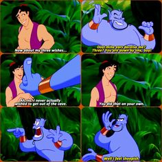 Then Genie turns into a sheep! Aladdin Quotes, Aladdin Movie, Disney Quotes, Aladdin 1992, Funny Disney Memes, Disney Facts, Disney Boys, Cute Disney, Disney And Dreamworks