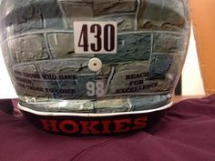 Hokie helmets representing the 430 Virginia Tech alumni who have given their lives for our country.