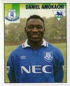 Daniel Amokachi of Everton in 1994.