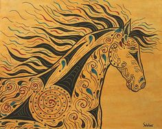 Southwest Tribal Horse Runs With the Wind Print by Susie WEBER Fine Art America