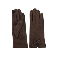 Womens Lined Texting Gloves with Bow