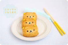 Rilakkuma Inarizushi #cute #food #rilakkuma