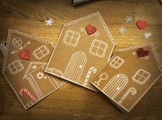Homemade Christmas Cards, Christmas Cards To Make, Christmas Crafts For Kids, Kids Christmas, Diy Christmas Village, Christmas Gingerbread, Christmas Decorations, Chrismas Cards, Xmas Cards