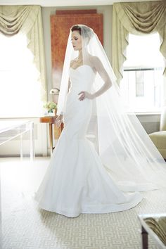 Wedding Veil Styles: How to Choose the Right Length for Your Dress Perfect Wedding Dress, Best Wedding Dresses, Wedding Looks, Wedding Attire, Bridal Veils And Headpieces, Wedding Veils, Bridal Gowns, Monique Lhuillier, Wedding Dress Pictures