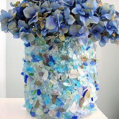Sea Glass Flower Vase