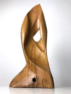 Vintage Carved Wood Abstract Biomorphic Sculpture Studio Art Signed RC Taylor | eBay
