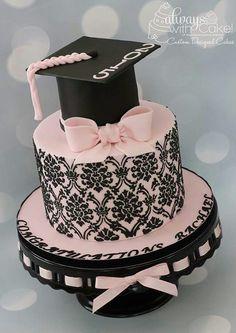 Adorable grad cake