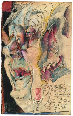Gouache, Yue Minjun, Horst Janssen, Illustrator, Rembrandt, Drawing Reference, Painting & Drawing, The Darkest, Cool Art